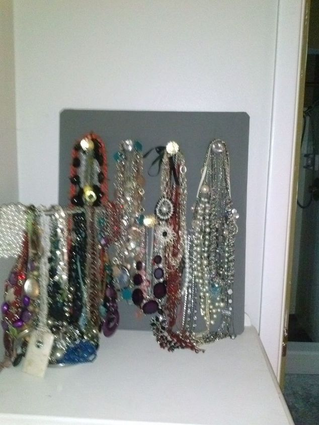 photo board turned jewelry storage, cleaning tips, repurposing upcycling, Finished