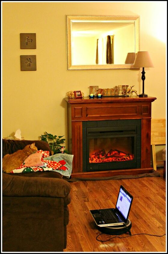 i have wanted a mantel for ever this is what i bought myself for xmas, fireplaces mantels, home decor, living room ideas