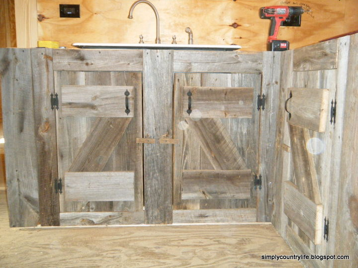 kitchen cabinets made from reclaimed salvaged barnwood, diy, home improvement, kitchen backsplash, kitchen cabinets, kitchen design, repurposing upcycling, woodworking projects