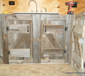 Kitchen Cabinets Made From Reclaimed Salvaged Barnwood, Diy, Home  Improvement, Kitchen Backsplash,