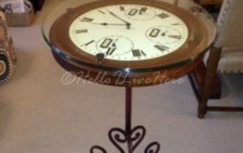 diy clock table, diy, how to, painted furniture, repurposing upcycling, Finished DIY Clock Table from Hello I Live Here