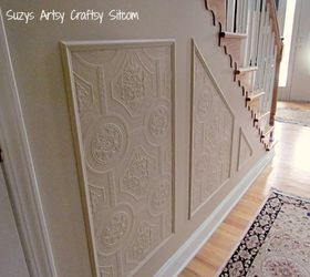 Break Up Lots Of Blank Wall Space Using Paintable Textured Wallpaper And  Wood Trim And Paint