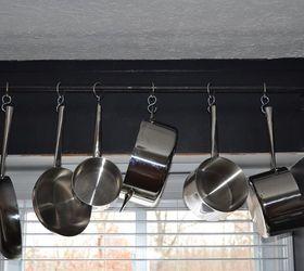 Hanging Pot Rack, Kitchen Design, Repurposing Upcycling, Storage Ideas, Pot  Rack Mounted ...