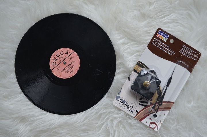 You'll need a record and a clock kit (purchased mine at Michael's Crafts)!