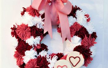 Valentine's Day Pom-Pom Wreath