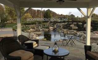 gorgeous ecosystem waterfall garden pond monroe county rochester ny, landscape, outdoor living, ponds water features, What a perfect place to enjoy this wonderful outdoor living oasis right under this pergola with Natural Bluestone Patio