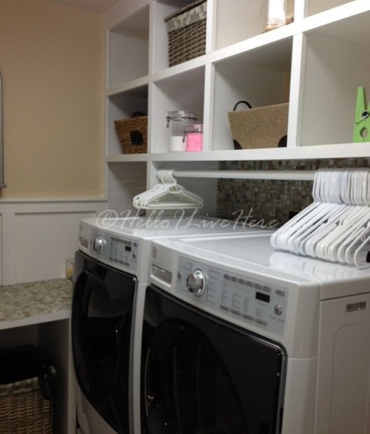 The finished Laundry room built by Hello I Live Here