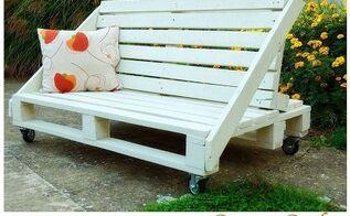 pallet furniture, diy, painted furniture, pallet, Pallets bench sofa