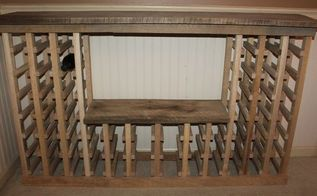 how to build a vintage wine rack from pallets or reclaimed lumber, diy, how to, pallet, repurposing upcycling, woodworking projects, The completed wine rack constructed from 100 reclaimed barn and pallet wood