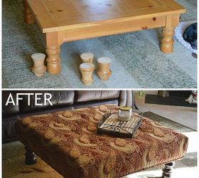Convert a Coffee Table to an Upholstered Ottoman Hometalk