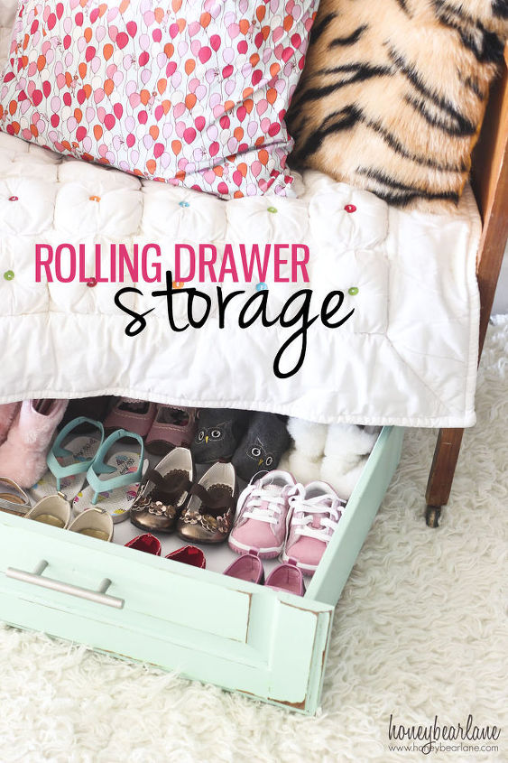 rolling drawer storage, cleaning tips, diy, home decor, storage ideas