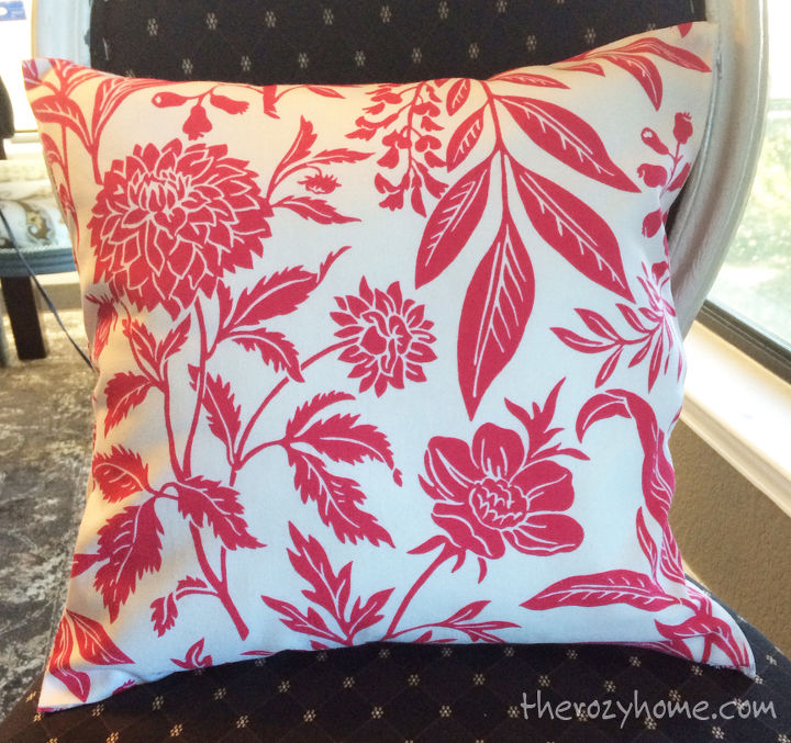 No Sew Pillow (With Zippers!) | Hometalk