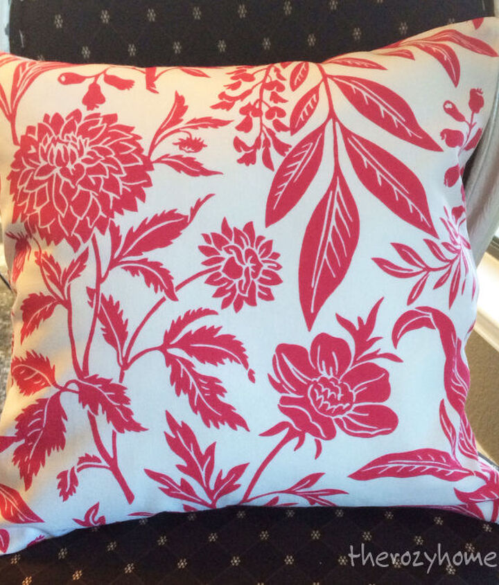 no sew pillow with zippers, crafts, reupholster