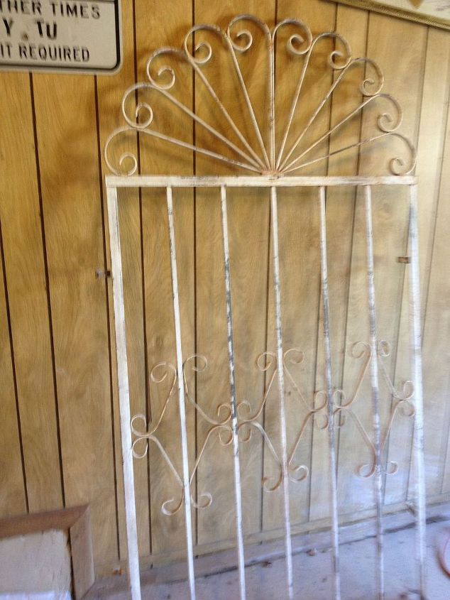 old rustic gate found a tale gate junk sale, curb appeal, home decor, repurposing upcycling, It was rusty and oh so nice Over 5 ft tall