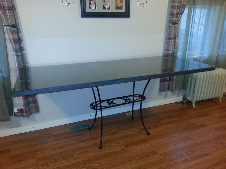 how i turned an old door into our new computer desk, diy, how to, painted furniture, repurposing upcycling, woodworking projects, after it was all finished