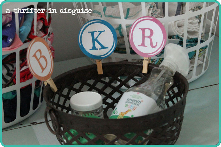 an organized laundry room that holds everyone accountable, laundry rooms, organizing