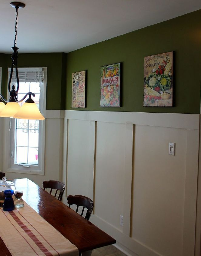 The eating area needed something to add to the walls.