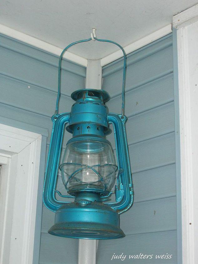 Lantern on the Potting Shed porch
