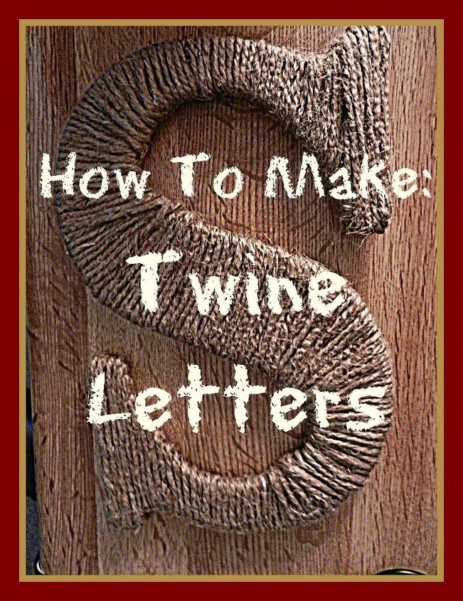 diy twine letters, crafts