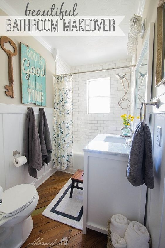 Cottage-Style Bathroom Makeover - the Finished product!