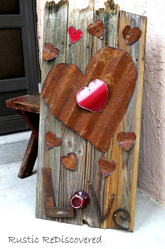 reclaimed fence board sign of love, crafts, repurposing upcycling, seasonal holiday decor, valentines day ideas