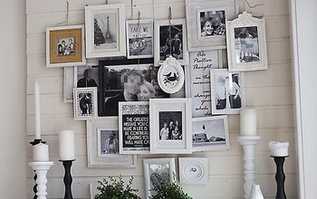 Layered Photo Frames Mantel ~ A Different Kind of Gallery Wall