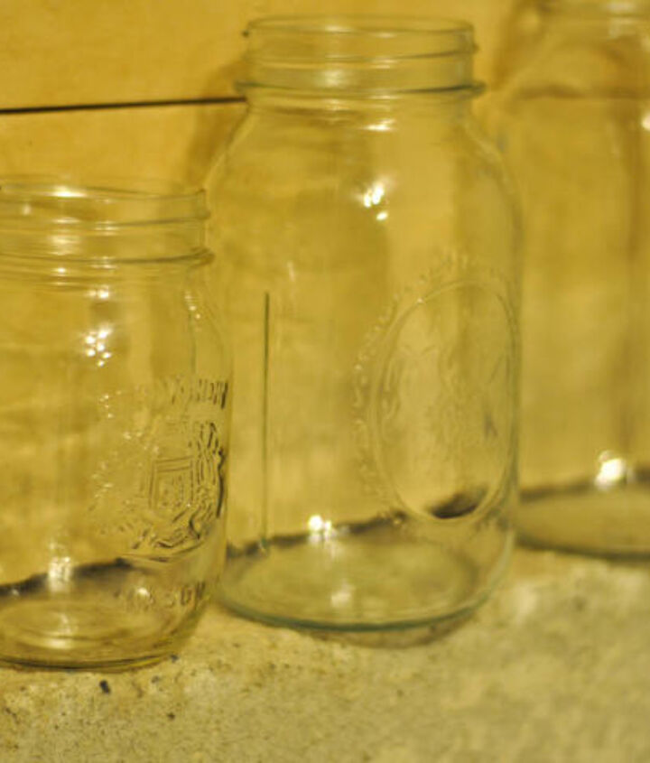 Start with a few mason jars (I robbed my stash).