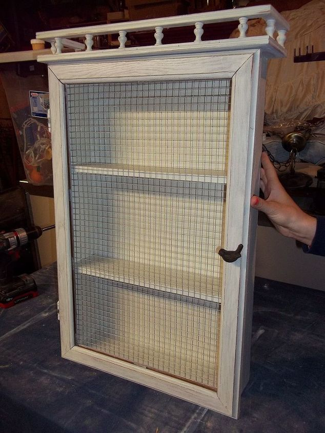medicine cabinet gone shabby, bathroom ideas, kitchen cabinets, painted furniture, repurposing upcycling
