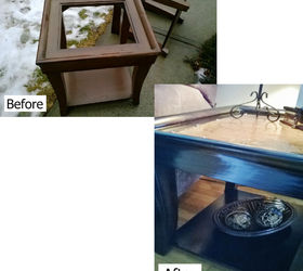 Topless End Tables Renewed With Faux Leather Tops, Living Room Ideas,  Painted Furniture,