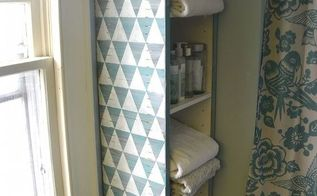 paint stirrer shelf makeover, diy, painted furniture, shelving ideas, storage ideas