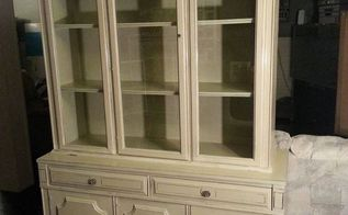 china hutch re do, painted furniture, Hutch complete