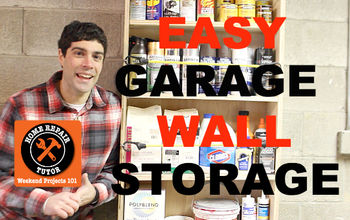 garage wall storage made easy, diy, garages, how to, shelving ideas, storage ideas, woodworking projects, Get your garage organized with garage wall storage