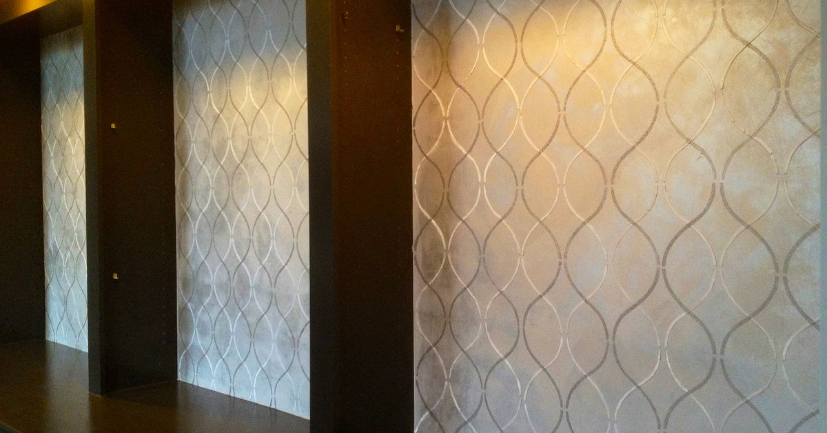 Contemporary Design With Metallic Texture Stencils Hometalk