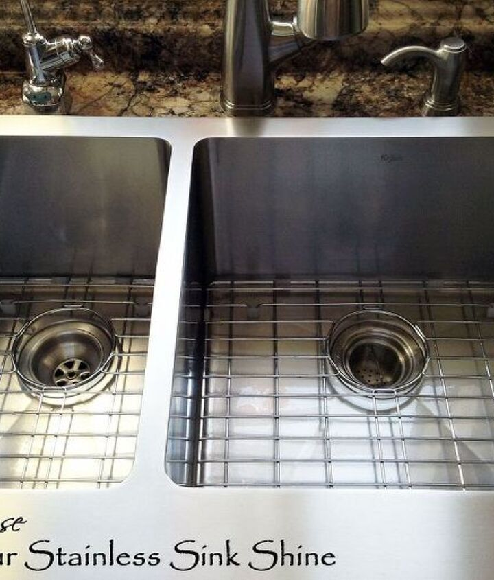 A really shiny sink makes me SMILE!