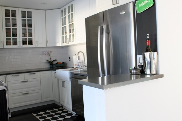 DIY IKEA Kitchen - White And Gray