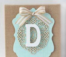 diy layered burlap monogram, crafts, decoupage