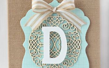 diy layered burlap monogram, crafts, decoupage