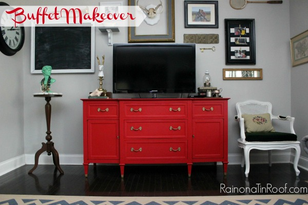 The red works perfectly with the navy and kelly green in the rest of my living room.