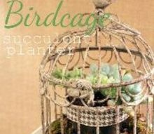 a spring birdcage planter, crafts, gardening, This sweet little planter is easy to make and you can use a variety of different plants