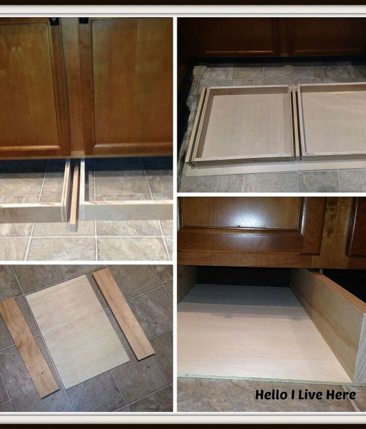 Installing the drawers and cradles under the cabinet