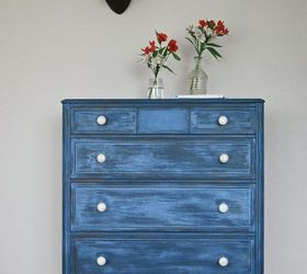 A Layered Blue Milk Paint Dresser, Painted Furniture, The Weathered Door A  Layered Blue