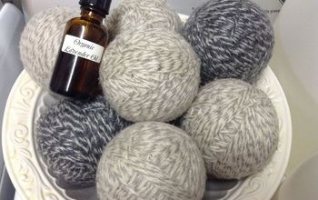 diy wool dryer balls eco friendly chemical free, cleaning tips, crafts, I scent my dryer balls with lavender my favorite scent