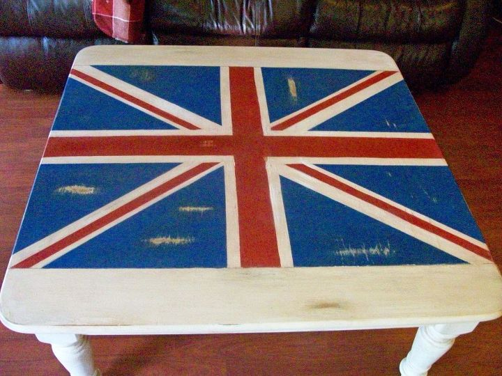 hello everyone hope your christmas shopping is going well thought i would share a, painted furniture, Union Jack Coffee Table