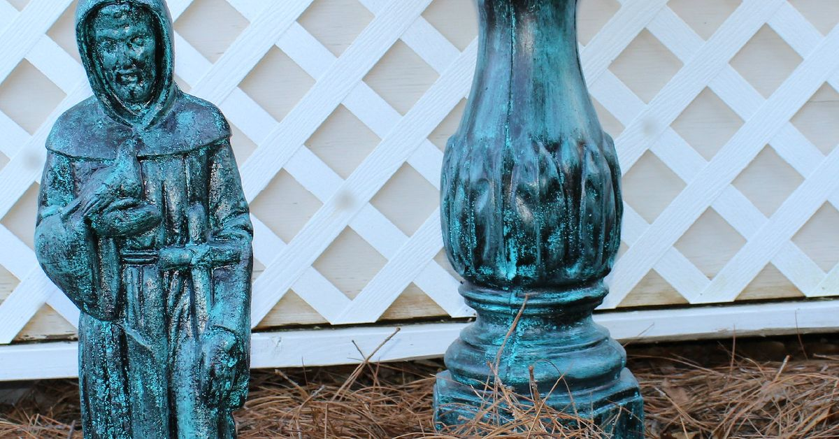 Painting A Verdigris Finish On Concrete Or Metal Statues
