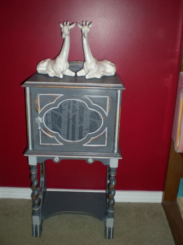 humidor for a cabin, chalk paint, painted furniture, After