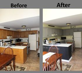 Yellow Gray Kitchen Remodel Before After, Chalk Paint, Home Decor, Kitchen  Design,