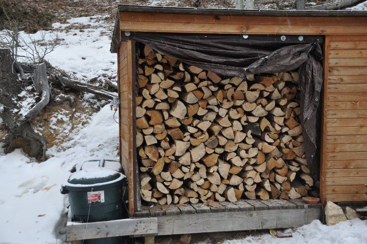 Happiness is a shed full of firewood.