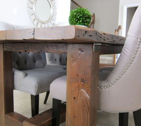 Wonderful Our Dining Room Table We Made From Reclaimed Wood, Dining Room Ideas, Diy,
