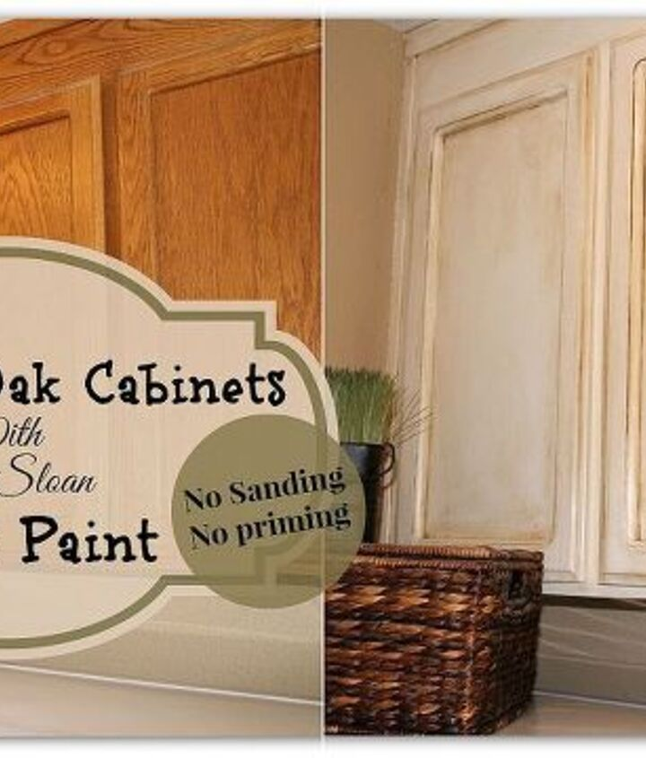 Painting over oak cabinets without sanding or priming. Chalk paint cabinet makeover