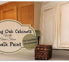 & Painting Over Oak Cabinets Without Sanding or Priming! | Hometalk